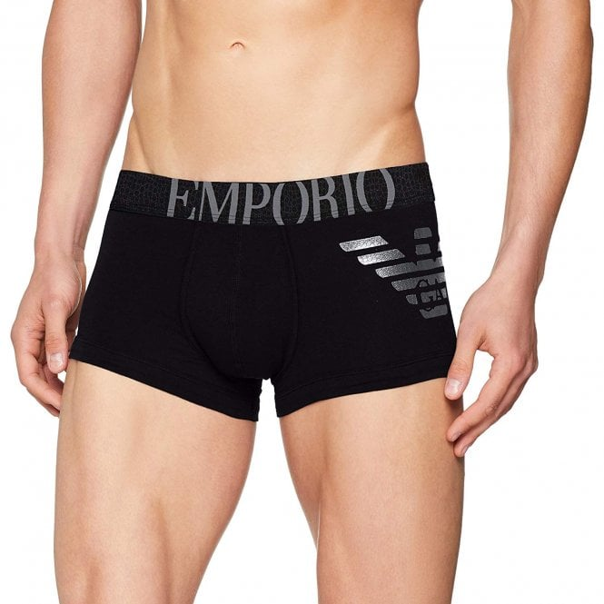 Emporio Armani Big Eagle Trunk, Black / Silver