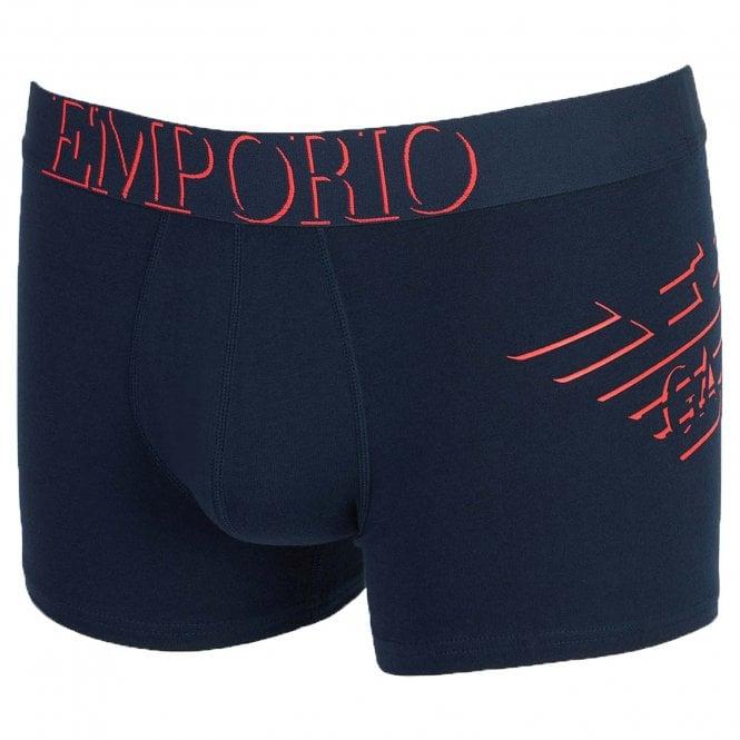 Emporio Armani Underwear Big Eagle Trunk, Marine