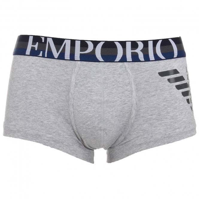 Emporio Armani Underwear Big Eagle Trunk, Melange Grey