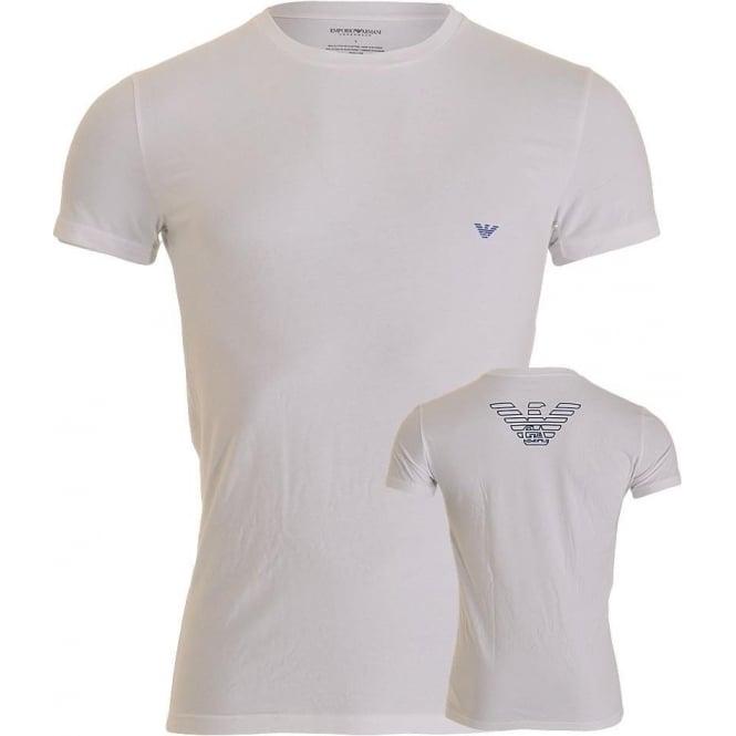 Emporio Armani Underwear Bodywear Big Eagle Stretch Cotton Crew Neck T-Shirt, White