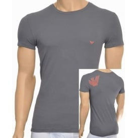 Bodywear Eagle Stretch Cotton Crew Neck T-Shirt, Ash Grey