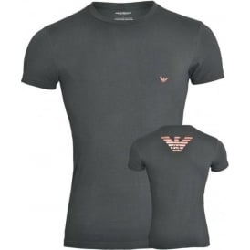 Bodywear Metal Eagle Crew Neck T-Shirt, Dark Grey