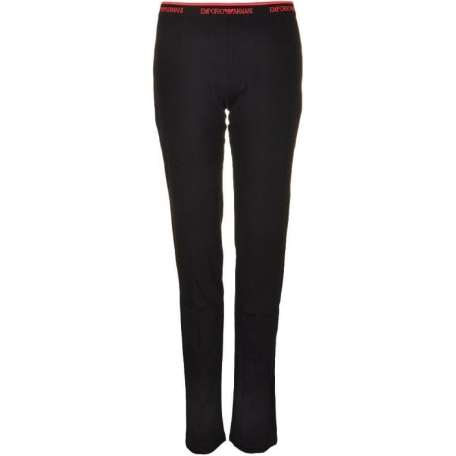 Emporio Armani Underwear Bodywear Visibility Iconic Stretch Cotton Lounge Pants, Black