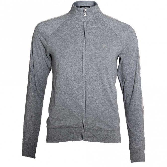 Emporio Armani Underwear Bodywear Visibility Sparkle Logo Full Zip Jacket, Grey