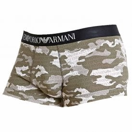 Camouflage Seasonal Print Trunk, Grey Camou