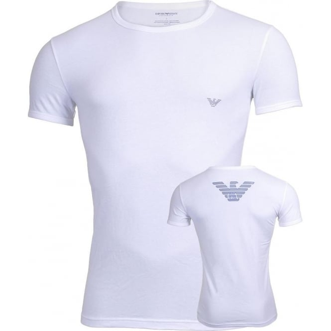 Emporio Armani Eagle Athletics Crew Neck T-Shirt, White