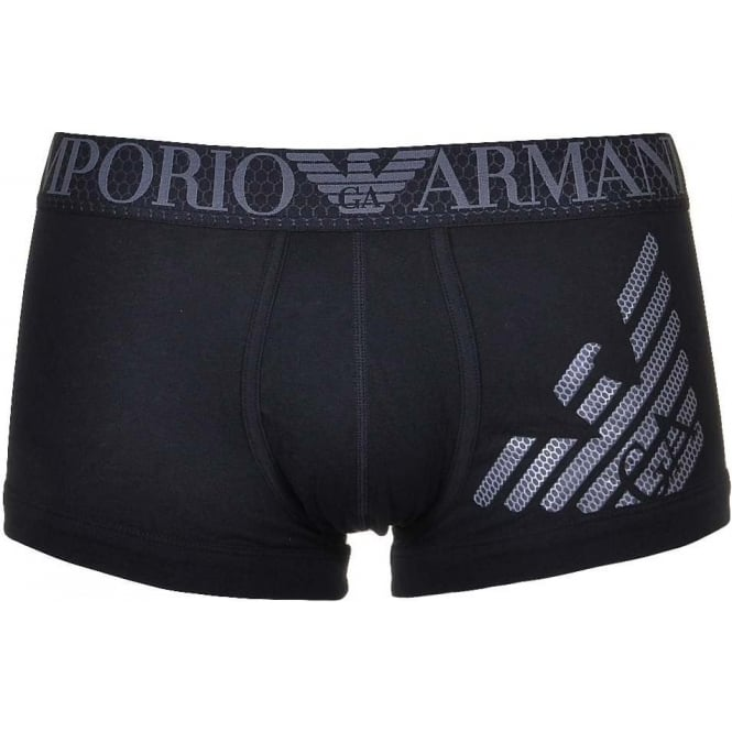 753bb726ae Emporio Armani Eagle Hexagon Print Trunk Black