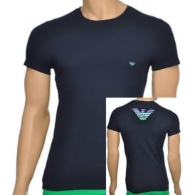 Eagle Stretch Cotton Crew Neck T-Shirt, Marine