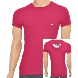 Eagle Stretch Cotton Crew Neck T-Shirt, Ruby