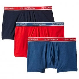 Fashion Multipack Stretch Cotton 3-Pack Boxer Brief, Cobalt / Red / Marine