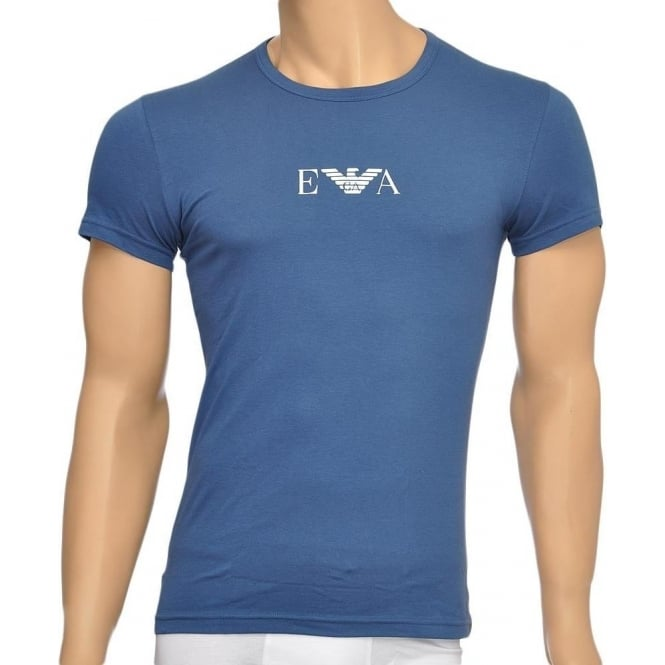 Emporio Armani Fashion Stretch Cotton Crew Neck T-Shirt, Aviation