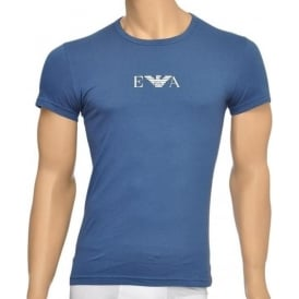 Fashion Stretch Cotton Crew Neck T-Shirt, Aviation