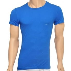 Fashion Stretch Cotton Crew Neck T-Shirt, China Blue