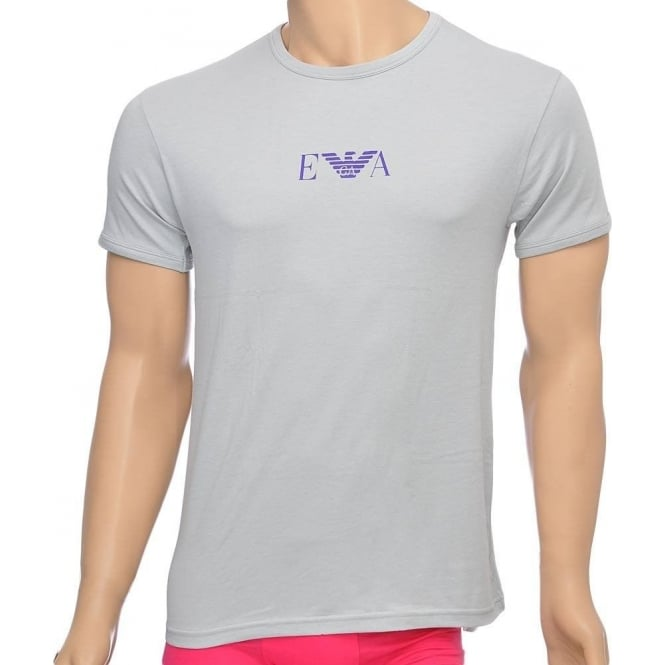 Emporio Armani Fashion Stretch Cotton Crew Neck T-Shirt, Ice Grey