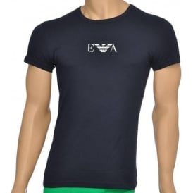 Fashion Stretch Cotton Crew Neck T-Shirt, Marine