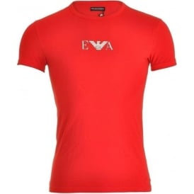 Fashion Stretch Cotton Crew Neck T-Shirt, Red