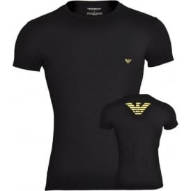 Metal Eagle Crew Neck T-Shirt, Black