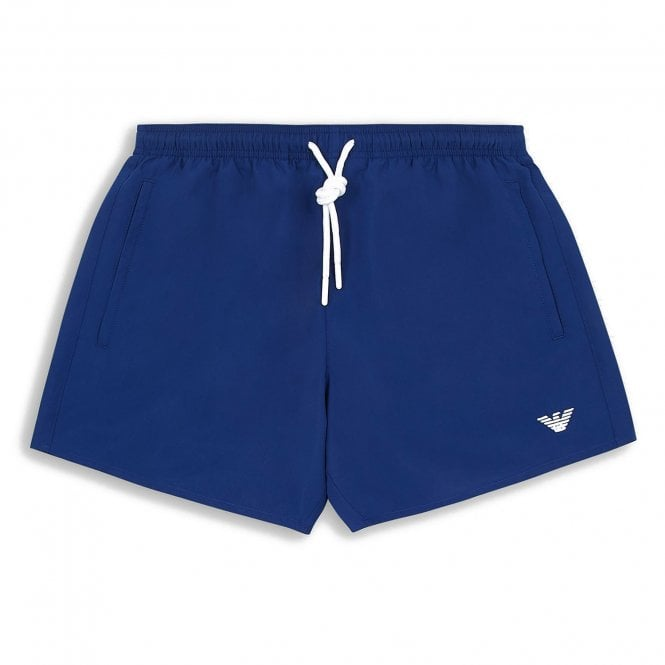 Emporio Armani Swimwear Essential Logo Swim Shorts, Cobalt Blue