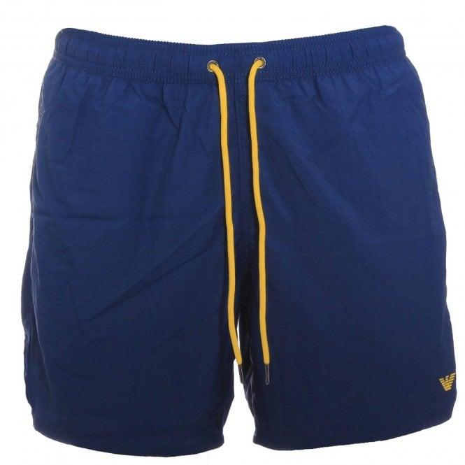 Emporio Armani Swimwear Logo Swim Shorts, Washed Blue