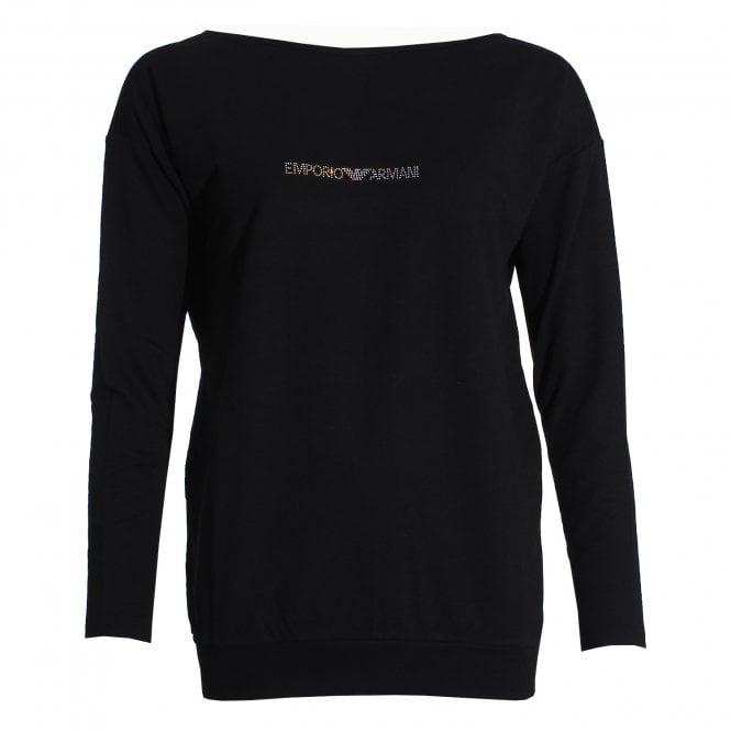 Emporio Armani Underwear Visibility Logo Sweater, Black