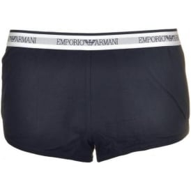 Bodywear Visibility Iconic Stretch Cotton Sporty Boy Shorts, Marine