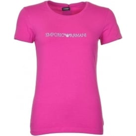 Visibility Stretch Cotton Crew Neck T-Shirt, Pink