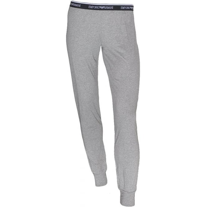 Emporio Armani Women Visibility Stretch Lounge Pant with Cuffs, Grey