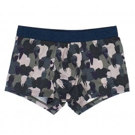 Camostreet Boxer Brief, Khaki Green Print