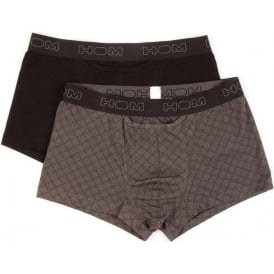HO1 Boxerlines Boxer Brief 2-Pack, Black/Grey Print