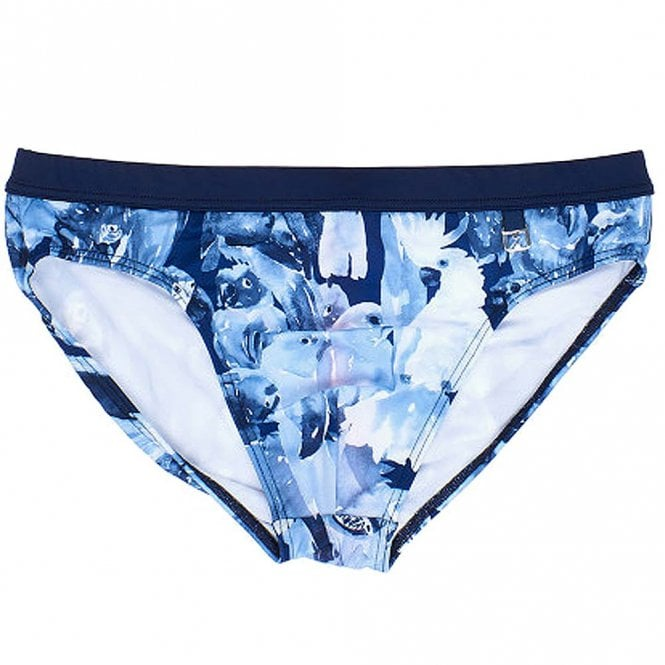 HOM Papagayo Swim Micro Briefs, Blue