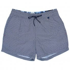 Topaz Swim Shorts, Navy / White