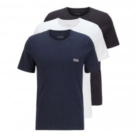 3-Pack Cotton Classic Crew Neck T-Shirt, Navy / Black / White