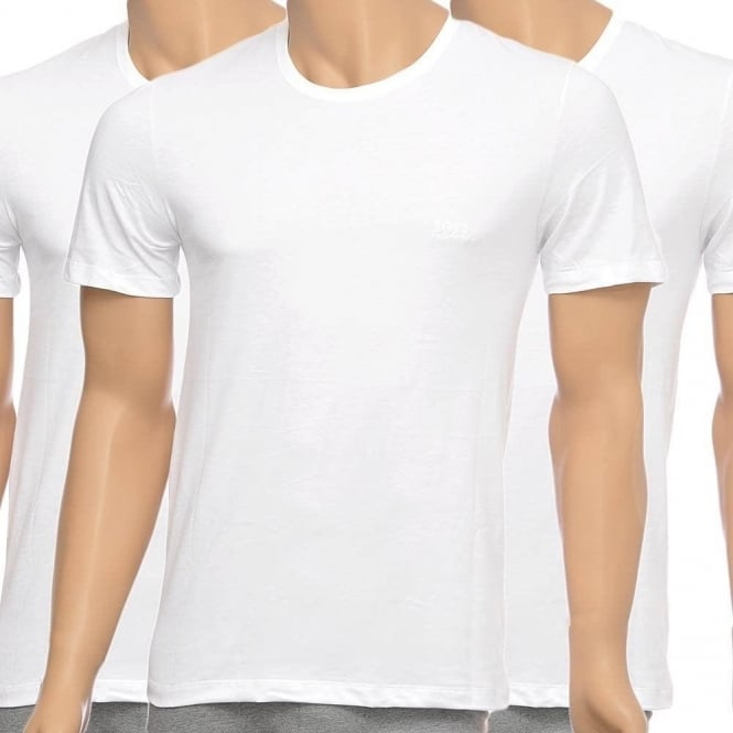 BOSS 3-Pack Cotton Classic Crew Neck T-Shirt, White