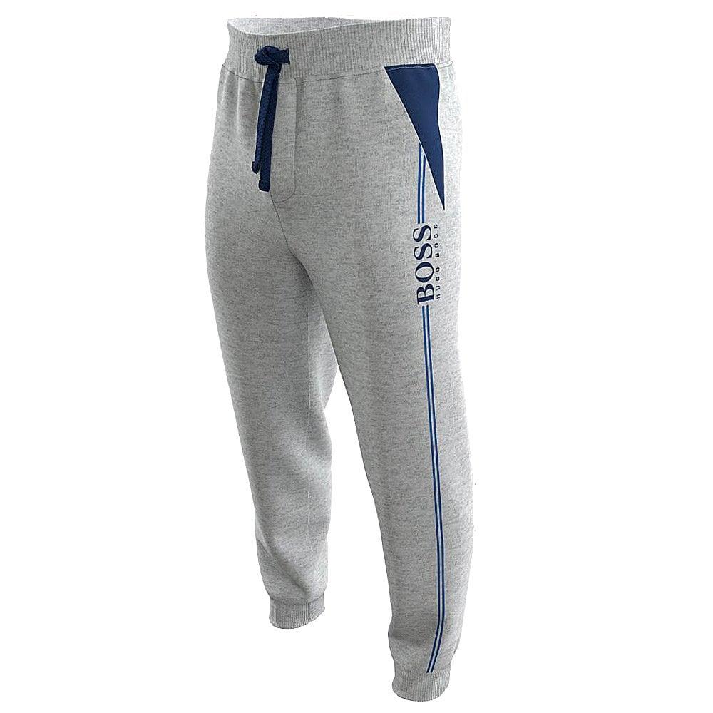 Hugo Boss Single Jersey Cuffed Men/'s Jogging Bottoms Charcoal//black