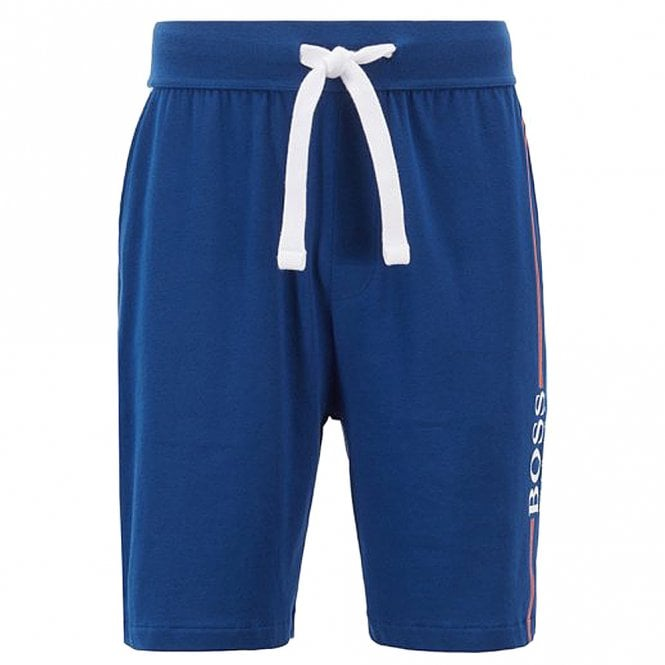 BOSS Authentic Cotton Logo Shorts, Bright Blue