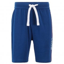 Authentic Cotton Logo Shorts, Bright Blue