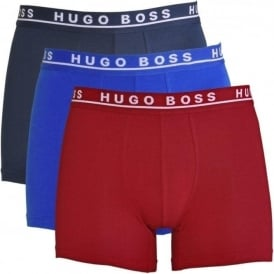 Cotton Stretch 3-Pack Boxer Brief, Red / Blue / Navy