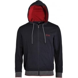 Cotton Zip-through Hooded Jacket, Dark Blue