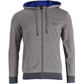 Cotton Zip-through Hooded Jacket, Grey