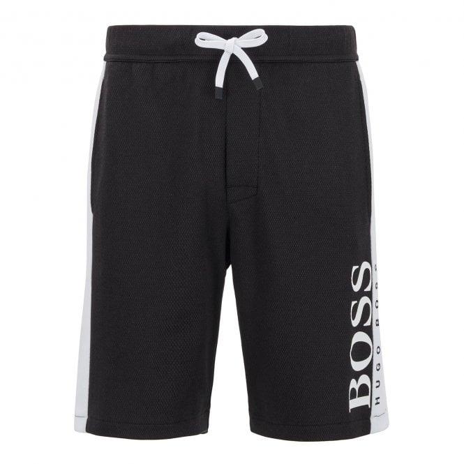 BOSS Jacquard Shorts, Black / White