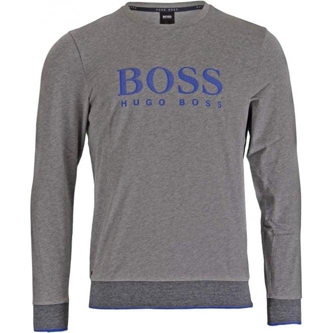 d6bd4327 HUGO BOSS Long Sleeve Cotton Crew Neck Sweatshirt Grey