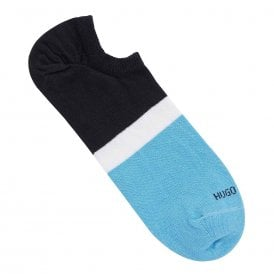 Low Cut Sneaker Cotton Logo Socks, Blue