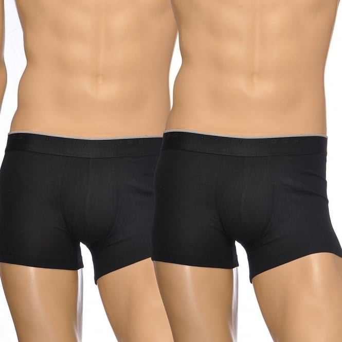 BOSS Premium Cotton Stretch 2-Pack Boxer Trunk, Black