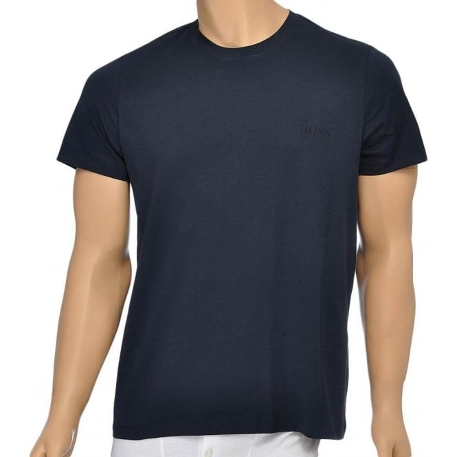 BOSS Pure Cotton Crew Neck T-Shirt, Navy