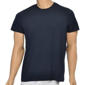 Pure Cotton Crew Neck T-Shirt, Navy
