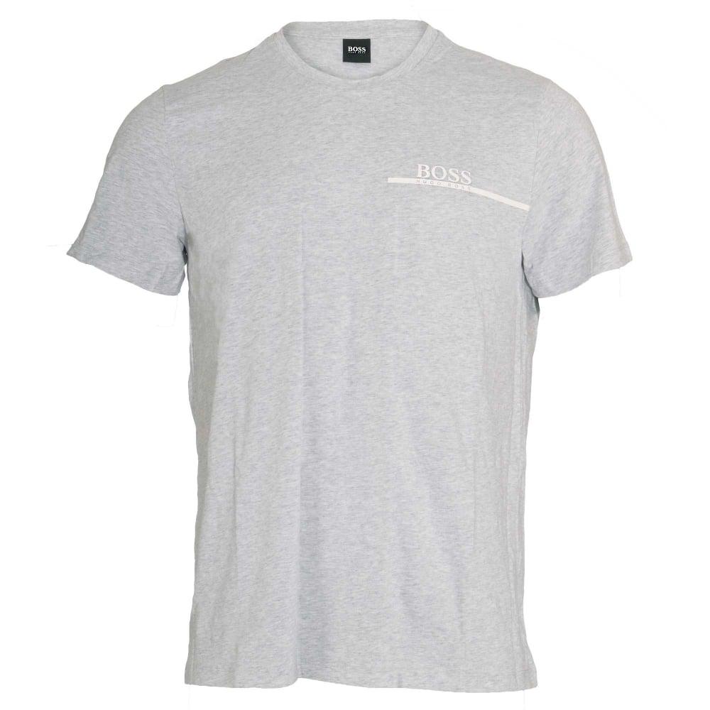 65dec19555 Hugo Boss Pure Cotton Crew Neck T-Shirt Silver