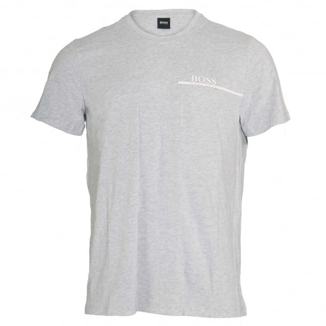 BOSS Pure Cotton Crew Neck T-Shirt, Silver