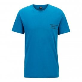 Pure Cotton Crew Neck T-Shirt, Turquoise
