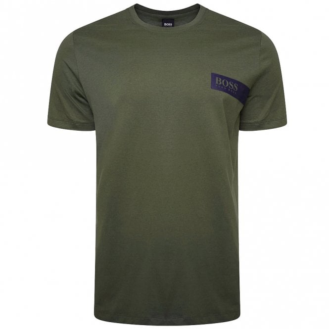 BOSS Relaxed Crew Neck Underwear T-Shirt, Dark Green