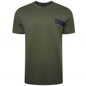 Relaxed Crew Neck Underwear T-Shirt, Dark Green